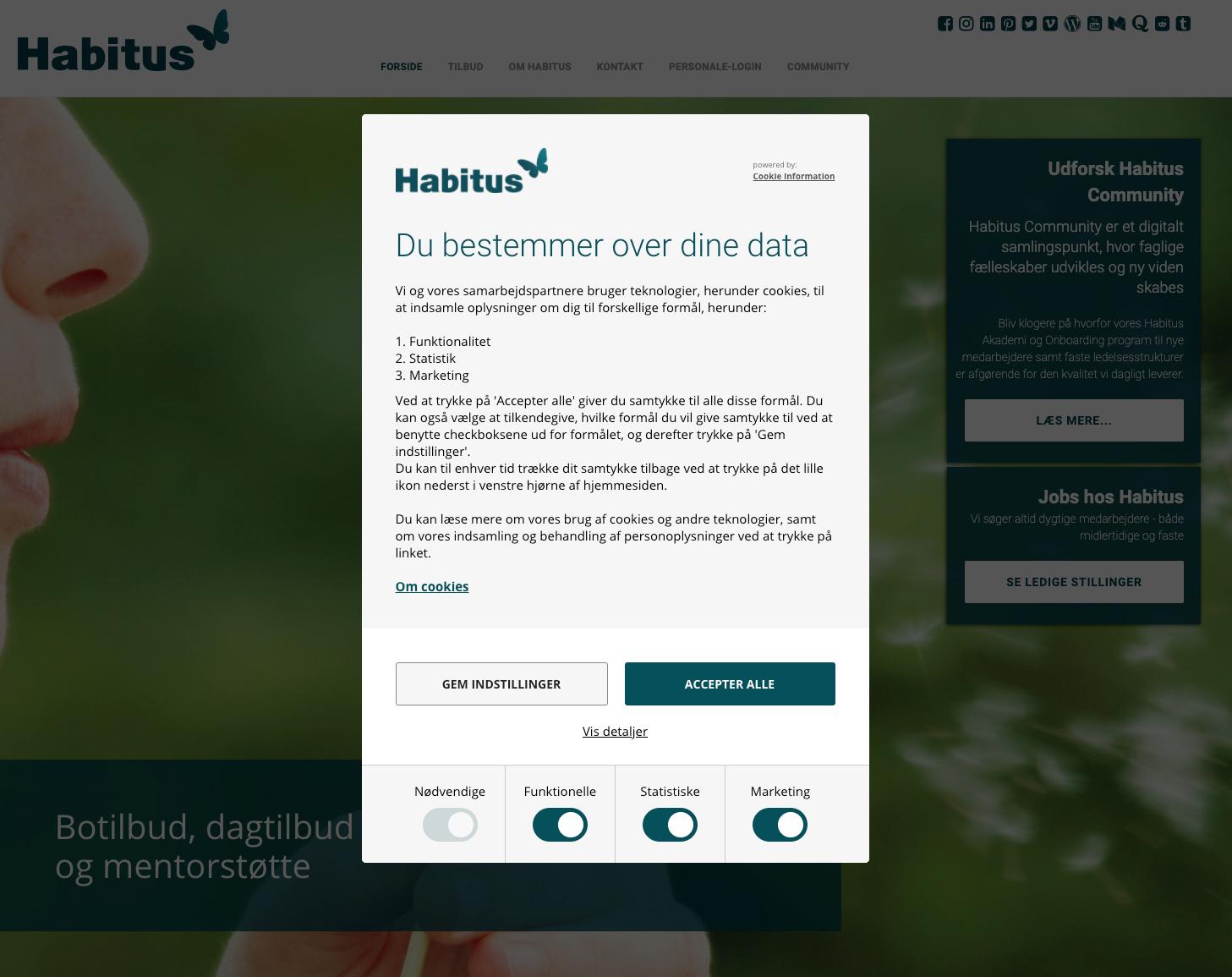 Cookie Information Habitus